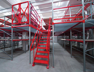 mezzanine in a warehouse
